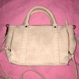 Faux leather pink beige  purse 👛 NWOT